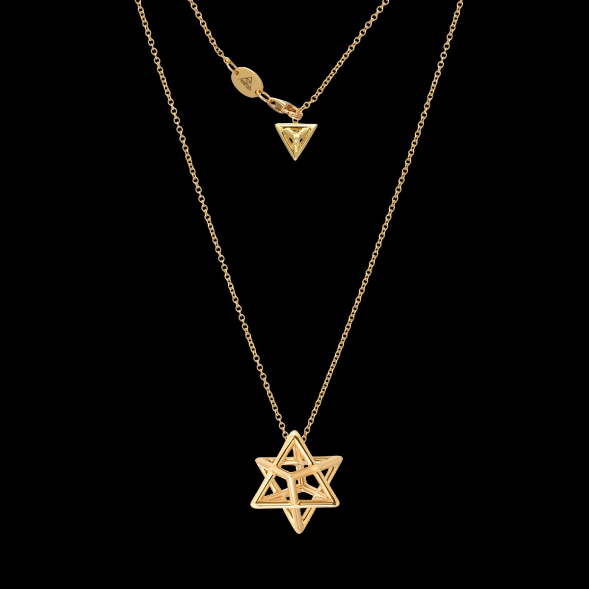 Merkaba Gold Pendant Necklace | Merkaba Fine Jewelry