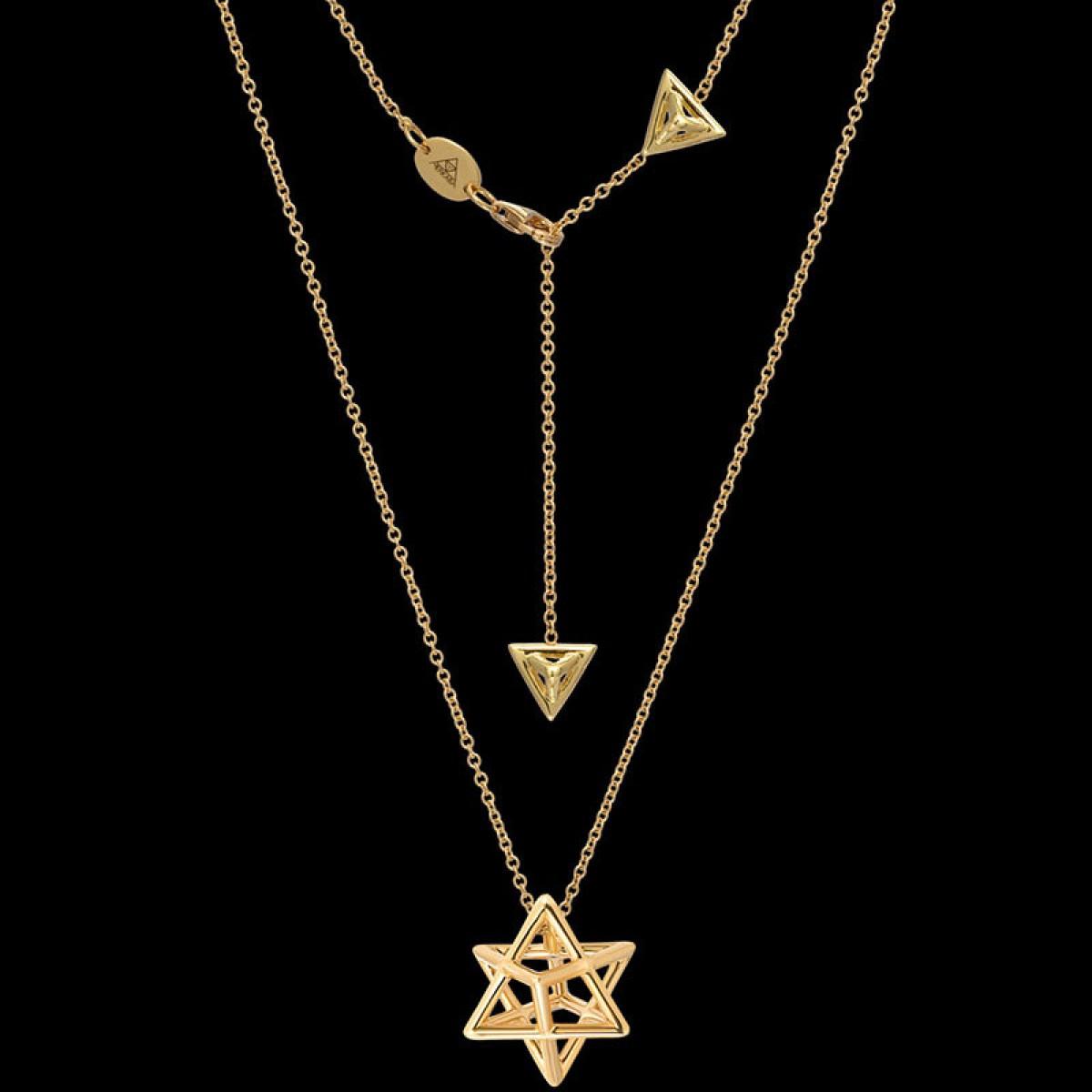 merkaba gold pendant necklace merkaba jewelry