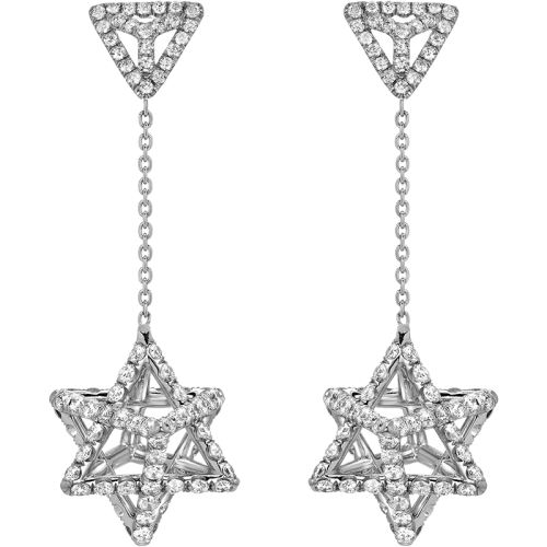 Merkaba Diamond Earrings