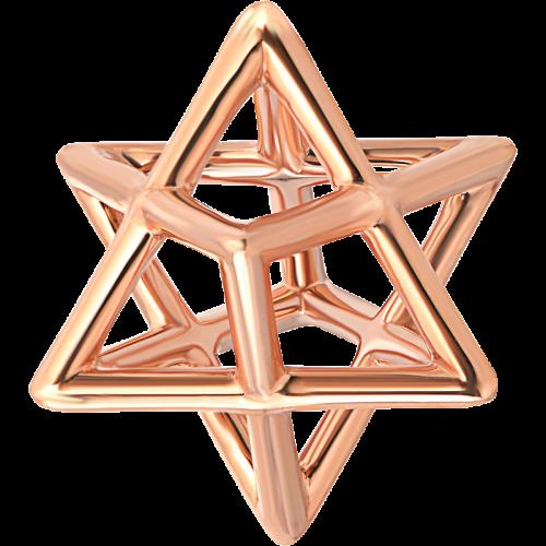 Star Of David Merkaba Body Rose Gold Pendant Necklace
