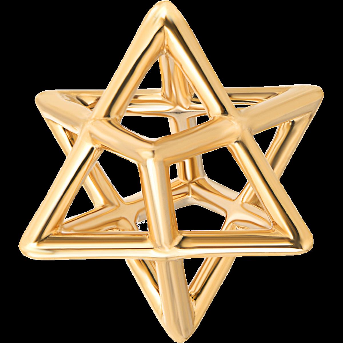 Merkaba Gold Pendant Necklace Merkaba Fine Jewelry