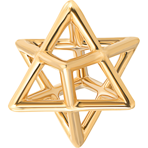 Merkaba Gold & Platinum Pendant Necklaces