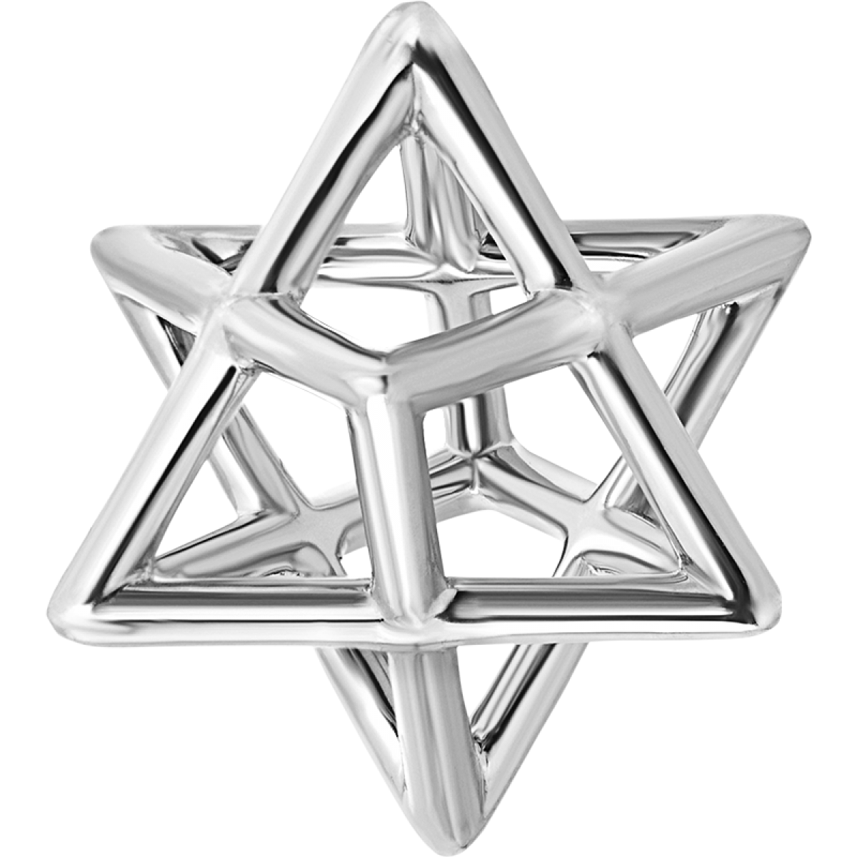 Merkaba silver pendant necklace merkaba fine jewelry star of david merkaba spirit silver pendant necklace mozeypictures Gallery