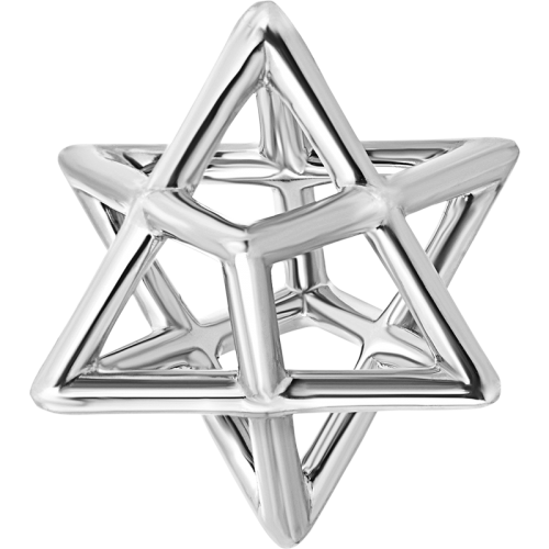 Merkaba Sterling Silver Pendant Necklaces