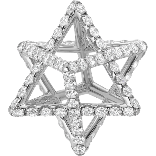 Merkaba Diamond Pendant Necklaces