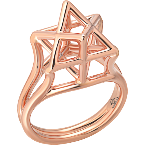 Merkaba Body Rose Gold Ring