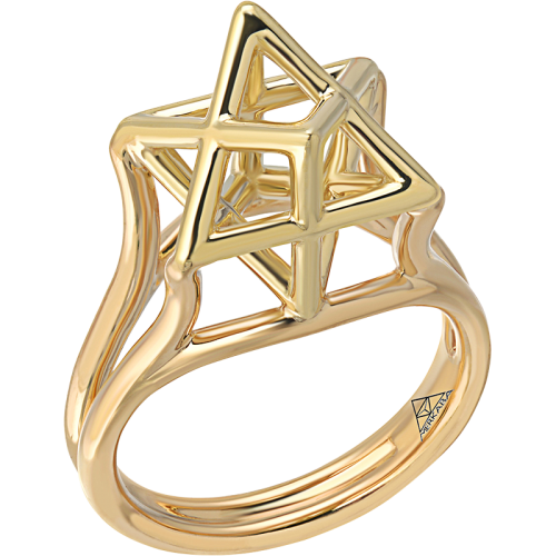 Merkaba Gold & Platinum Rings